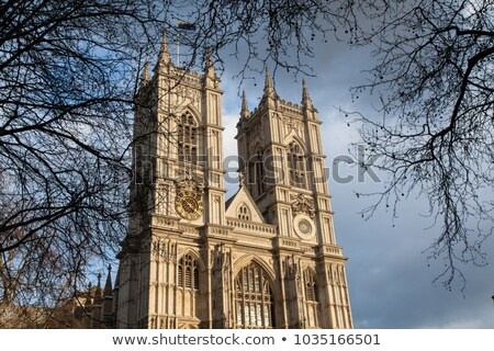 Westminster abbey tower against sky in London, England Stock photo © Nejron