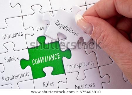 könyvvizsgálat · puzzle · jelentések · pénzügyi · csekk · jelentés - stock fotó © tashatuvango