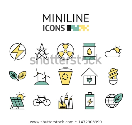 abstract green eco icon stock photo © pathakdesigner