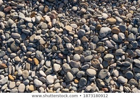 abstract details of a rocky mediterranean beachan beach stock photo © lizard