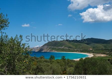 пляж регион Корсика расстояние океана синий Сток-фото © Joningall
