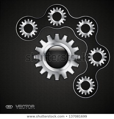 銀 · 歯車 · 白 · デザイン · 金属 - ストックフォト © lemonti