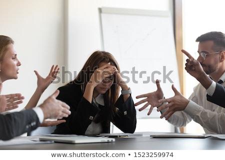 Igényes üzletasszony üzletasszony néz előre készít Stock fotó © tab62