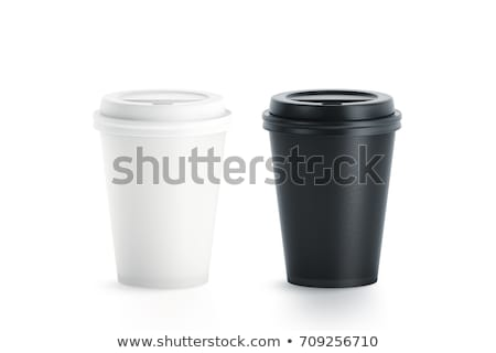 Closed up coffee cup in coffee shop stock photo © punsayaporn