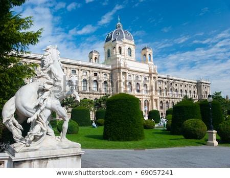 múzeum · természetes · történelem · Bécs · Ausztria · naplemente - stock fotó © pixachi