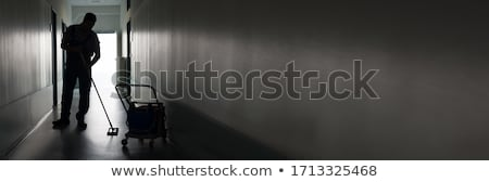 janitor silhouettes  stock photo © Slobelix
