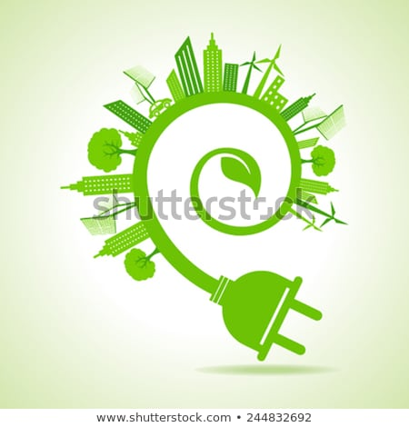 Earth + electric plug – Vector illustration Stock photo © Mr_Vector