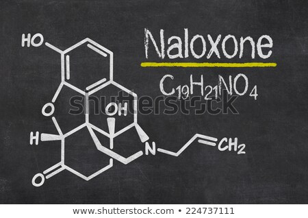 Blackboard with the chemical formula of Naloxone Stock photo © Zerbor