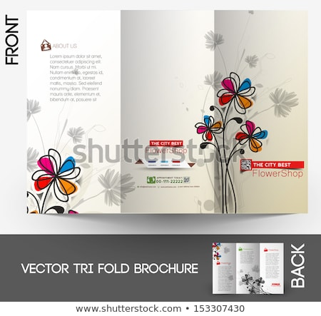 Flower shop Tri-Fold  Brochure Stock photo © redshinestudio
