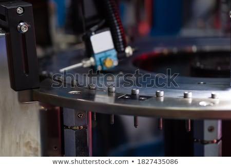 Bolzen Schraube Mutter weiß industriellen Werkzeuge Stock foto © stevanovicigor