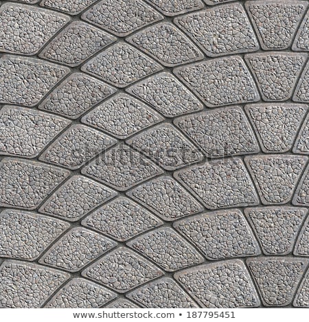 Stock photo: Gray Paving Slabs Laid as Semicircle.