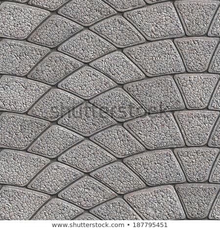 Gray Paving Slabs Laid as Semicircle. Stock photo © tashatuvango