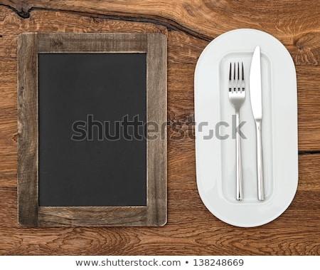 Stok fotoğraf: Eski · tahta · rustik · dizayn · arka · plan · mutfak