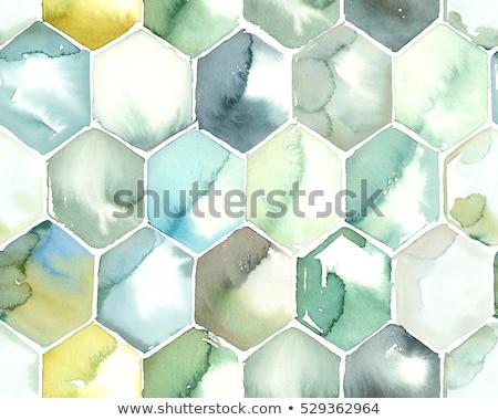 Favo de mel azul cor papel textura Foto stock © aliaksandra