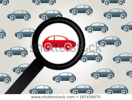 Car Insurance through Magnifying Glass. Stock photo © tashatuvango