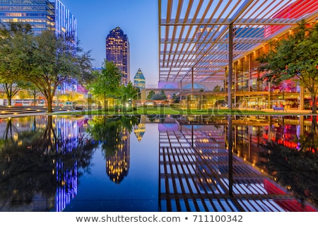 Dallas cityscape in the evening Stock photo © AndreyKr