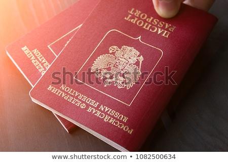Russo passaporte dinheiro americano papel sucesso Foto stock © Valeriy