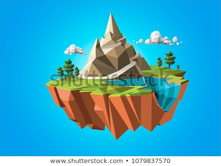 low poly mountains Stock photo © tony4urban