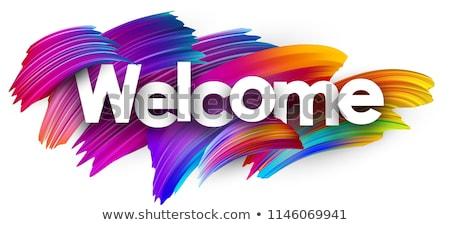 Foto stock: Bienvenida · foto · empresario · negocios · trabajo