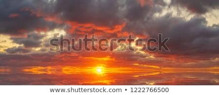 pôr · do · sol · nascer · do · sol · nuvens · pintura · quadro · eps - foto stock © helenstock