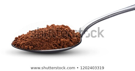 Proszek łyżka szkła czekolady tle Zdjęcia stock © mady70