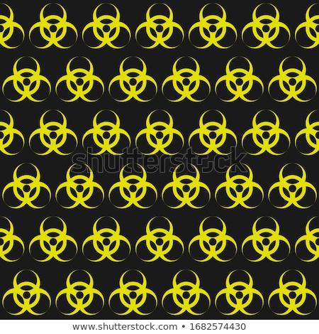 Seamless Pattern with Bio Hazard Signs, Wallpaper Danger Symbols Stock photo © smeagorl