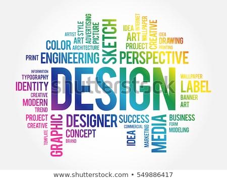 Kelime bulutu web tasarım dizayn Sunucu web mimari Stok fotoğraf © master_art