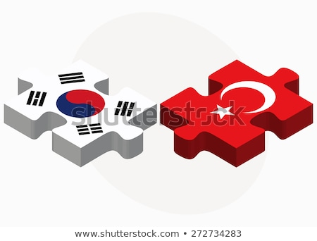 South Korea and Turkey Flags in puzzle Stock photo © Istanbul2009
