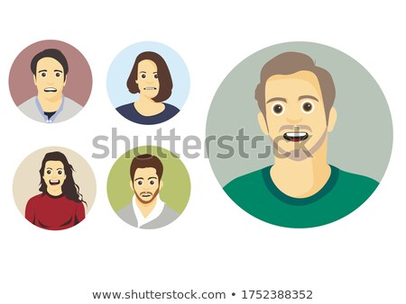 flat stylized avatars of happy smiling kids Stock photo © vectorikart