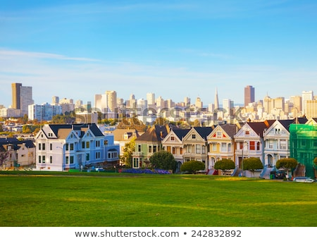 San Francisco cityscape as seen from Alamo square park Stock photo © AndreyKr