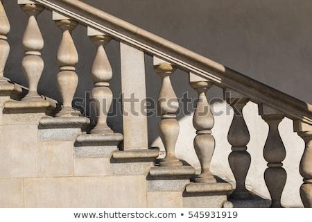öreg · lépcső · Olaszország · kolostor · fény · háttér - stock fotó © stevanovicigor