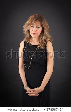 bosszús · nő · portré · nő · kezek · mosoly · arc - stock fotó © wavebreak_media