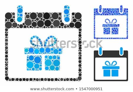 Schenken Blauw sticky notes vector icon ontwerp Stockfoto © rizwanali3d