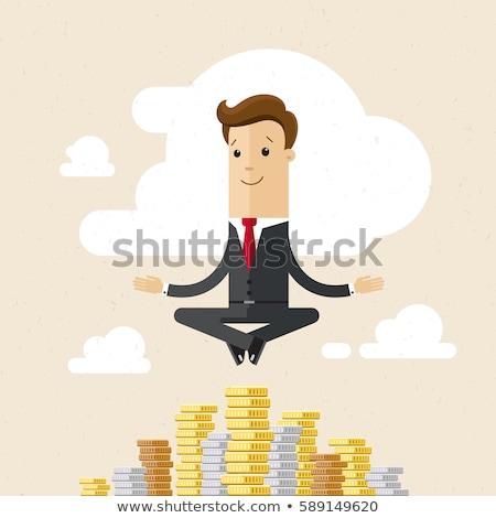 Business man hung position Stock photo © fuzzbones0