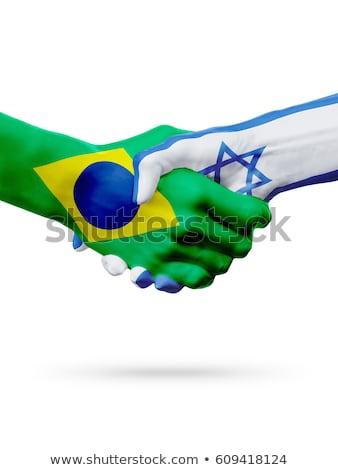 Brezilya İsrail bayraklar vektör görüntü bilmece Stok fotoğraf © Istanbul2009