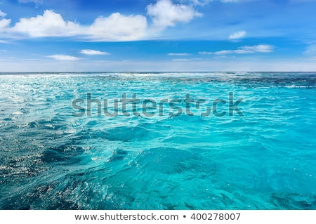 ストックフォト: エンドレス · カリビアン · 海 · 結晶 · 島 · 地平線