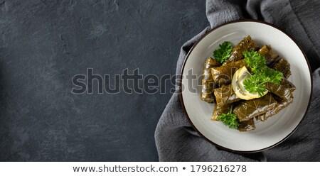 Recheado uva folhas comida folha restaurante Foto stock © inxti