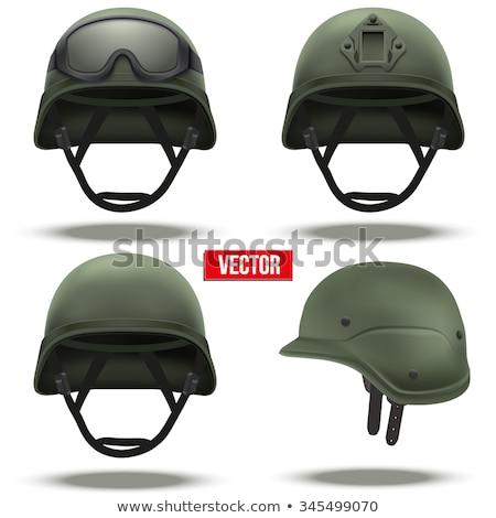 military helmet with tactical goggles vector illustration Stock photo © konturvid