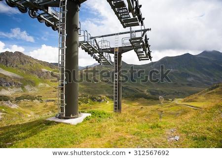 Stock fotó: Nyár · tájkép · sí · üdülőhely · Ausztria · utazás