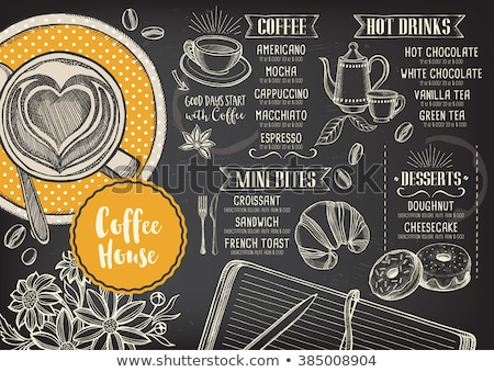 café · menu · tableau · boissons - photo stock © netkov1