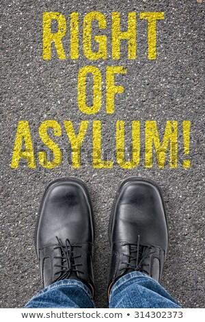 Text on the floor - Right of Asylum Stock photo © Zerbor