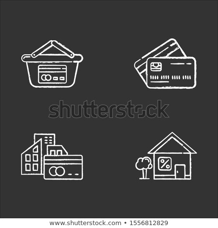hand drawn invest concept on small chalkboard stock photo © tashatuvango