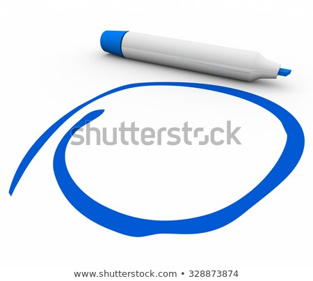 Blue Marker Pen Circled Blank Copy Space Your Message Stock photo © iqoncept