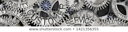 Dienst verbetering metaal versnellingen mechanisme wiel Stockfoto © tashatuvango
