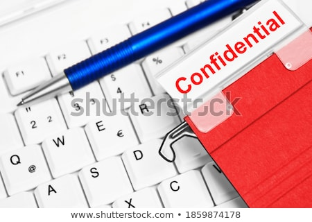 red office folder with inscription agreements stock photo © tashatuvango