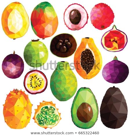 Avocado Green Abstract Low Polygon Background Stock photo © patrimonio