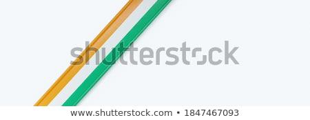 Wybrzeże Kości Słoniowej kraju banderą Pokaż tekst Zdjęcia stock © tony4urban