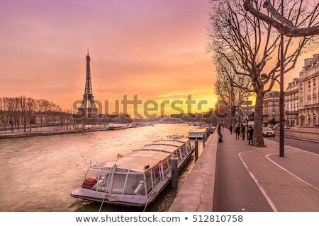 most · Paryż · słoneczny · wieczór · Francja · niebo - zdjęcia stock © dutourdumonde