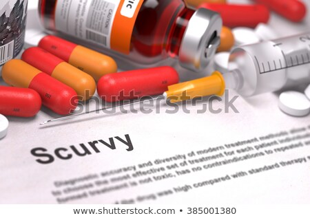 Scurvy - Printed Diagnosis. Medical Concept. Stock photo © tashatuvango