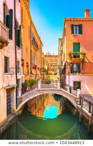 Keskeny csatorna híd Velence Olaszország víz Stock fotó © AndreyKr